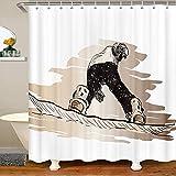 Homemissing Skateboard Duschvorhang Textil Hipster Schlechter Stoff Duschvorhang 180x210cm Extremsport für Kinder Skate Board wasserdichte Duschvorhang Graffiti Stände Badewannen Dekor