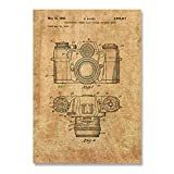 WJY Vintage Kamera Patent Poster Wandkunst Druck Antike