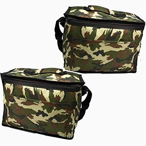 2 x Camuflaje Bolsas 10 ltr y 8 ltr almuerzo aislada nevera militar Enfriador Picnic camping, caza, congelador, comida, agua, envase. frío