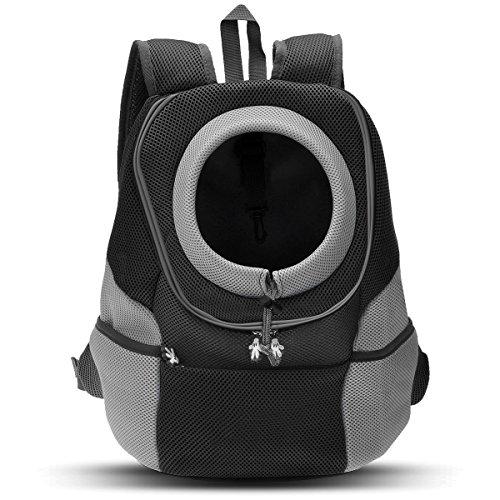 PETCUTE Rucksack für Haustier Haustiertragetasche Rucksack Haustier Tasche für Hunde Airline Genehmigt Schwarz XL