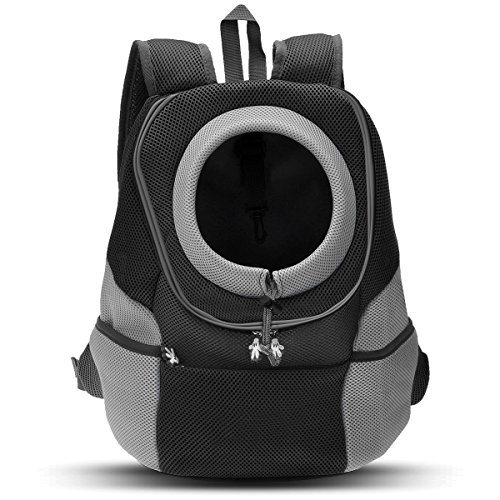 PETCUTE Pet Carrier Backpack Dog Travel Backpack Pet Carrying Bag for Small Dogs Cats Head Out Design Airline Approved for Bike Hiking Black XL