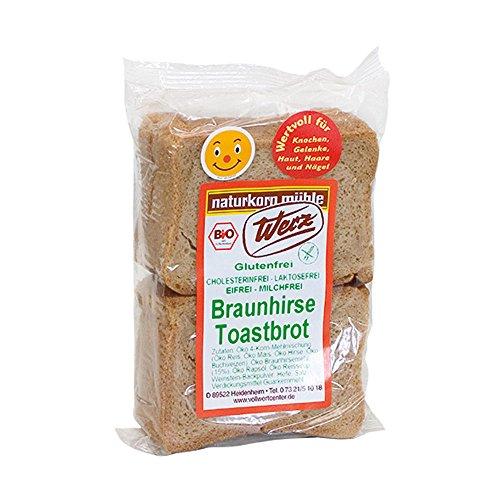 Braunhirse-Toastbrot, glutenfrei - 0,25 kg