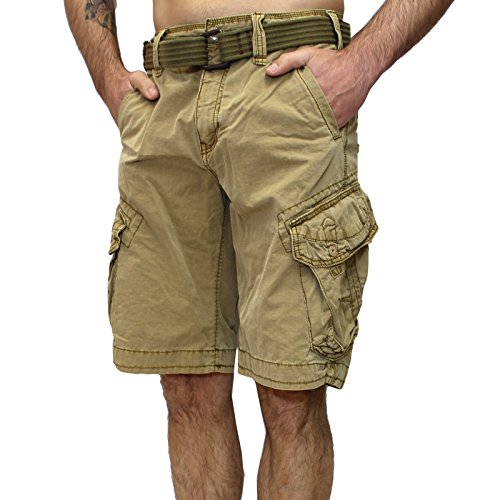 Jet Lag Shorts Take Off 3 Kurze Hose in Charcoal Cement schwarz Olive Camouflage (33, Gold)