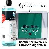 KLARBERG® Ultraschallreiniger Konzentrat - zur Reinigung von Brillen, Schmuck, Zahnersatz, Uhren, Münzen und sonstiger Kleinteile im Ultraschallbad (1000ml)