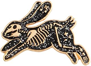 Magi gift Skeleton Running Rabbit Enamel Pins Badges Brooches Backpack Hat Bag Accessories Bunny Jewelry for Men Women