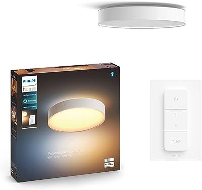Philips Lighting 915005997601 Philips Hue White Ambiance Plafonnier Devere Medium, Blanc