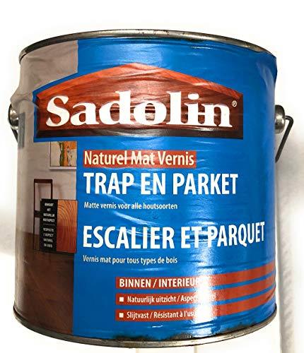 VERNIS POLYURÉTHANE MAT NATUREL (incolore) escalier et parquet 2,5 litres