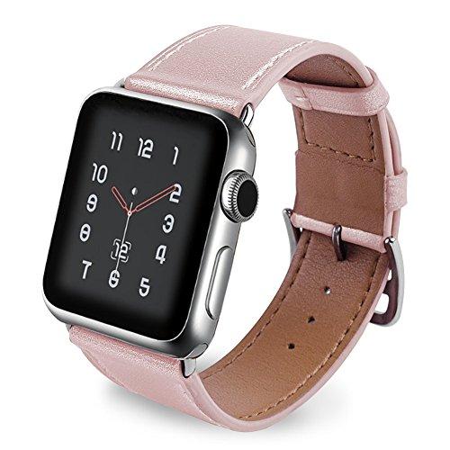 Aottom per Cinturino Apple Watch 38mm 40mm Pelle Cinturini Apple Watch Series 4 Braccialetto di Ricambio Polso Band per iWatch Series 4/3/2/1 Sport Edition Classico Fibbia - Oro Rosa