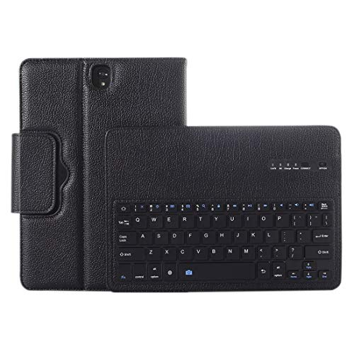 Wangl Phone Cases for Galaxy Tab S3 9.7 / T820 2 in 1 Detachable Bluetooth Keyboard Litchi Texture Leather Case with Holder(Black) Phone Cases (Color : Black)