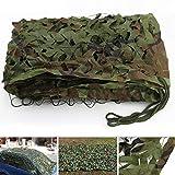 Red de camuflaje, rollo de malla de camuflaje, ejército, caza, bosque, tela Oxford, para camping, decoración de fiestas, cubiertas de coche y refugios de construcción (2 x 1,5 m, verde camuflado)