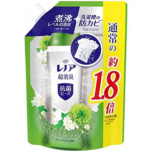 スマートマットライト レノア 本格消臭+ 抗菌ビーズ グリーンミスト 詰め替え 約1.8倍(760mL/482g)