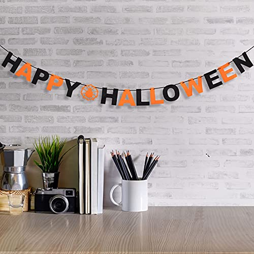 liuduo Kit de decoración de Halloween, banderines de tela, tela multicolor, guirnaldas de telas, banderines, banderines para decoración de cumpleaños.