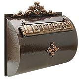 PrimeMatik - Cassetta delle Lettere Casella Postale per Lettera e Posta Antico ghisa di Colore ossido Parete