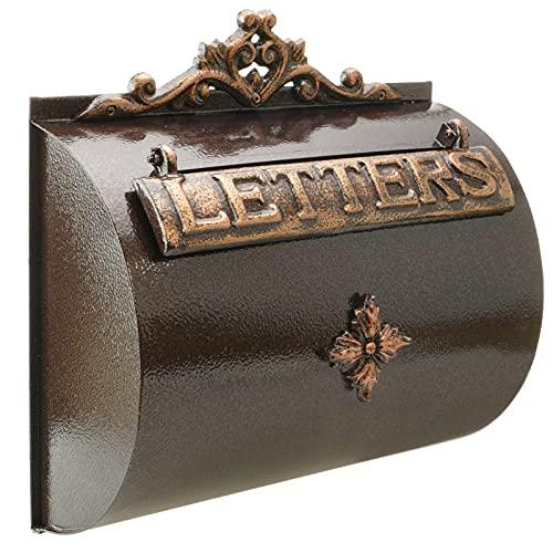 PrimeMatik - Briefkasten Postkasten Retro Antik Vintage Gusseisen Schwarze Oxid für wallmount