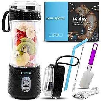 Portable Blender Personal Size Blender for Shakes and Smoothies Fruit Smoothie Blender Milkshake – Juicer Mini Blender 4000 mAh USB Rechargeable with 6 Blades Handheld use in Sports Travel Gym