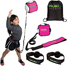 CRUSH iT SPORTS Volleyball Training Equipment Aid - Practice your Serving, Spiking, Setting & Arm Swing, Serve & Spike Like a Pro with this Solo Trainer, Perfect Volleyball Gift for Beginners