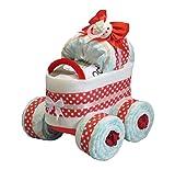 'pañales pañales para tartas–Cochecito XL de neumáticos 'punto rojo