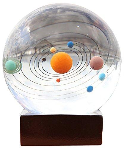 Berry Präsident ® 3d-Lasergravur-Solar System Briefbeschwerer Home Decor Geschenk Sonnensystem Kristallkugel 7.87 cm