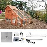 Dispositif d'ouverture de cage de poulet, ouvre-porte de poulailler, kit de fournitures de sécurité électrique automatique pour poulet de cages de...