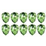 Supvox Costura Rhinestones Cristal Cristal Rhinestones Gota de agua Coser en Rhinestones Lágrima para ropa 50pcs (Verde claro / 18x25mm)