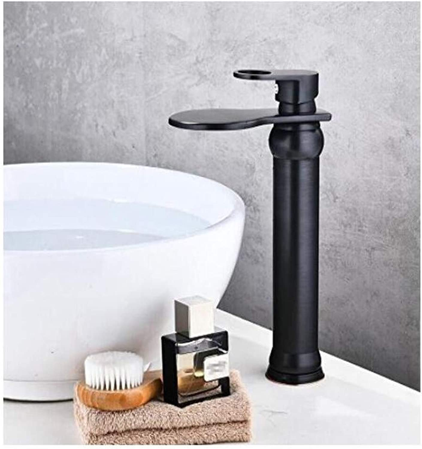 Faucet Retro Kitchen Mixer Faucet Oil Brushed Waterfall Faucet Bathroom Faucet Bathroom Basin Faucet Mixer Tap Hot and Cold Sink Faucet