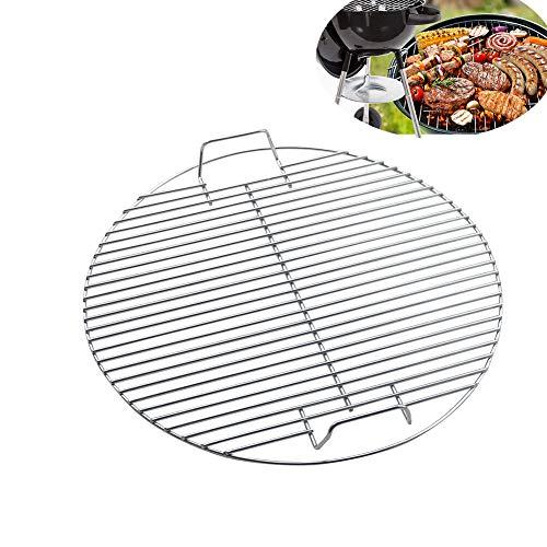 Fablcrew Grille Ronde en Acier Inoxydable 45 cm pour Barbecue BBQ