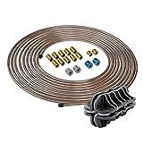 "4LIFETIMELINES 1/4"" Copper Nickel 25 ft Brake Line Replacement Kit & Handheld Tubing Straightener"