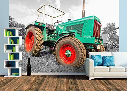 Premium Foto-Tapete Oldtimer Trecker Hanomag Granit 500 (versch. Größen) (Size XL | 465 x 310 cm) Design-Tapete, Wand-Tapete, Wand-Dekoration, Photo-Tapete, Markenqualität von ERFURT