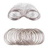 BENECREAT Circa 300 Giri 22 Caliber Filo Armonico Memory Wire Bead Wire per Gioielli Bracciale Spessore 0,6 mm