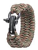 The Friendly Swede Pulsera de Supervivencia Trilobite en Paracord - Tamaño Ajustable - 3 Tamaños Disponibles - GARANTÍA DE por Vida (Army Green Camo, Small)