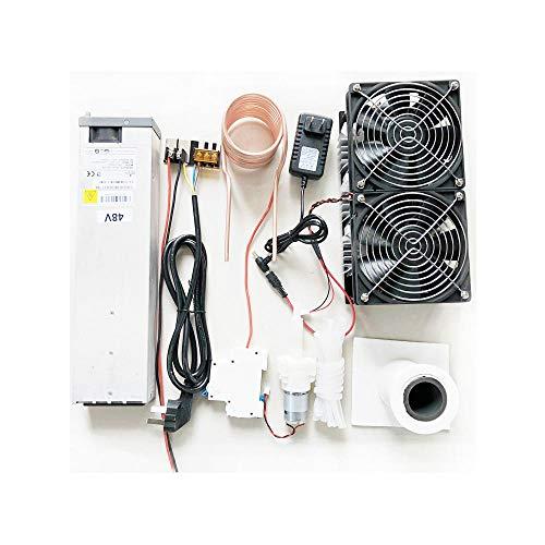 JIAMIN Módulo de placa de 2500W 48V 50A ZVS módulo de calefacción de inducción de alta frecuencia máquina de calefacción de metal fundido bobina con fuente de alimentación kit completo