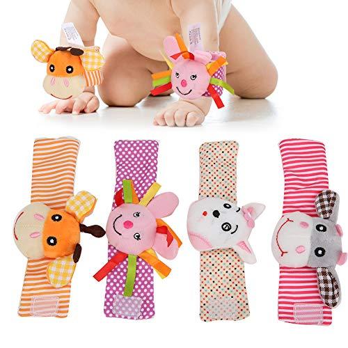 Lantuqib Sonajeros de muñeca, sonajeros de muñeca para niños saludables y no tóxicos, Regalo de cumpleaños para niños del Festival de Acción de Gracias para el hogar(011, 013 Wrist Strap)