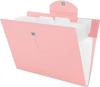 Yigou Trieur à Soufflets Classeur Rangement A4 Papier Chemise Trieur Plastique A4 Documents Extensible pour Bureau Maison ...