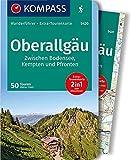 KOMPASS Wanderführer Oberallgäu, Zwischen Bodensee, Kempten und Pfronten: Wanderführer mit Extra-Tourenkarte 1:55.000, 50 Touren, GPX-Daten zum Download.