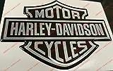 Adesivi Compulsivi Autocollant avec logo Harley Davidson, en résine effet 3D-Idéal pour réservoir ou casque.