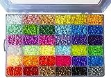 La Manuli Perline a Fusione - 36 Colori - 4 Colori Che brillano al Buio - Perline Colorate e fosforescenti - 5mm - da Stirare o per Bijoux e Portachiavi