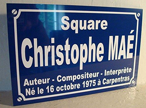 plaque de rue Christophe Mae idée déco collectoin Cadeau