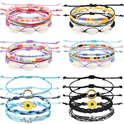 24 Pieces Friendship Bracelet Ethnic Style Woven Bracelet Stretch Beaded Bracelets Cute Adjustable Beaded Bracelets Friendship Bracelets With Sliding Knot - - as pictures shown