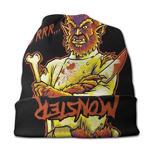 xuexiao Strickmütze für Männer & Frauen - Winter Rodelhüte für kaltes Wetter Monster Chef Werwolf Beanie Cap Black