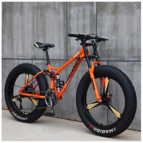 NENGGE mountainbike, 26 inch dikke band hardtail mountainbike, dubbele ophanging frame en schorsing vork alle terrein mountainbike