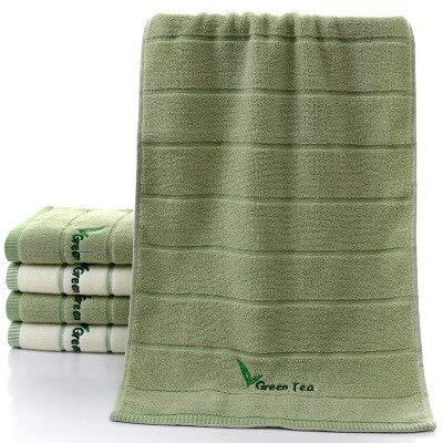 2 toallas de rizo de algodón a rayas muy suaves para adultos, toalla de mano para baño, camping, yoga