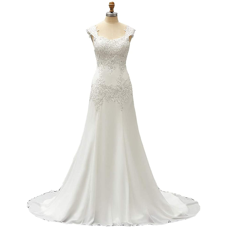 Seasail 2019 Chiffon Wedding Dress Beads Applique Lace Robe De Mariage Bridal Dresses Wedding Gown
