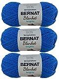 Bulk Buy: Bernat Blanket Yarn (3-Pack) Super Bulky #6, 5.3 Ounce 108 Yards Per Skein Solids and Ombres (Royal Blue)