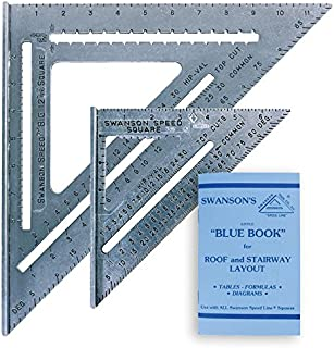 SWANSON 7 IN. SPEED SQUARE AND BIG 12 SPEED SQUARE (WITHOUT LAYOUT BAR) KIT.  Includes Blue Book