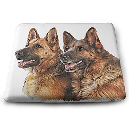 Memory Foam Pad zitkussen. Autostoel kussens om hoogte te verhogen - bureaustoel comfortabel kussen - tekening hond Duitse herder