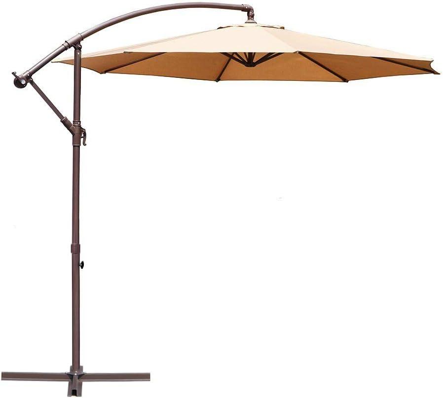 Le Papillon 10-Ft Offset Patio Umbrella $44.99 Coupon