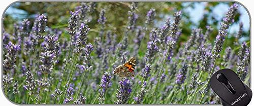 Alfombra/almohadilla de ratón extendidos - Grande, mariposa mariposa Cierre de ratón con bordes cosidos