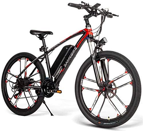 RDJM Ebikes SM26 Electric Mountain Bike for Adults, 350W Aluminum Alloy Ebike 48V 8AH Removable Lithium Battery All Terrain City Bike for Men Women