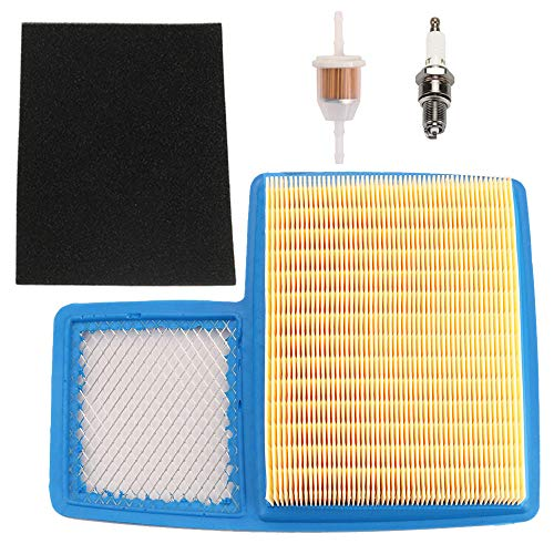 HONEYRAIN G16 Air Filter Tune up Kit for Yamaha G16A G19 G20 G21 G22 G22A G29 Drive Gas Golf Cart 1996-UP 4 Cycle Engine Replace JN6-E4450-00 JN6-E4450-01 with Fuel Filter Spark Plug