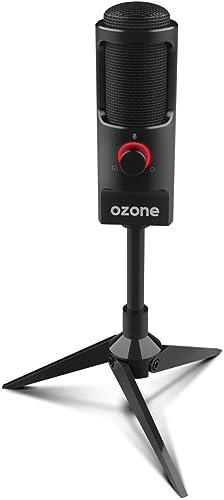 Microfono Gaming Ozone REC X50 - Microfono Streaming - Condensador Electrodo, Sonido Omni-Bidireccional, Iluminación ...